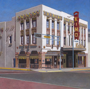 2ND PLACE - Oil/Acrylic - Dorothy McGeorge - The Kimo Theatre - Oil