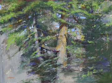PLEINAIR / FINE ART CONNOISSEUR MAGAZINES AWARD - Albert Handell - The White Pine - Pastel